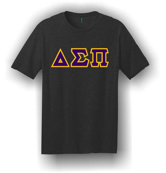 Delta Sigma Pi – T-Shirt, Embroidered (Single Stitched)  – 5180 Hanes® Beefy-T® - 100% Cotton T-Shirt