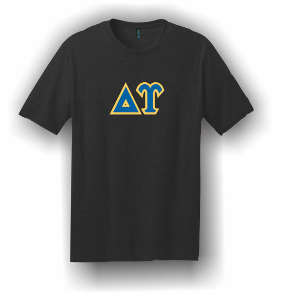 Delta Upsilon – T-Shirt, Embroidered (Single Stitched)  – 5180 Hanes® Beefy-T® - 100% Cotton T-Shirt