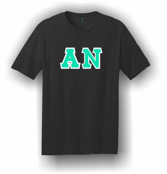 Alpha Nu – T-Shirt, Embroidered (Single Stitched)  – 5180 Hanes® Beefy-T® - 100% Cotton T-Shirt