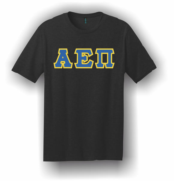 Alpha Epsilon Pi – T-Shirt, Embroidered (Single Stitched)  – 5180 Hanes® Beefy-T® - 100% Cotton T-Shirt