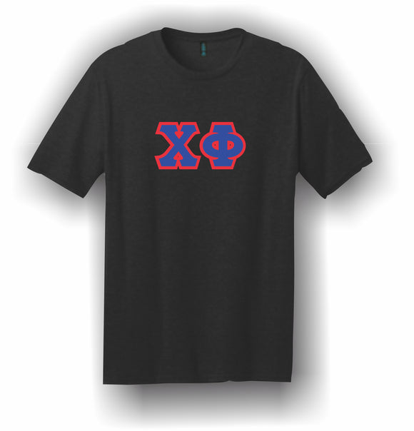 Chi Phi – T-Shirt, Embroidered (Single Stitched)  – 5180 Hanes® Beefy-T® - 100% Cotton T-Shirt