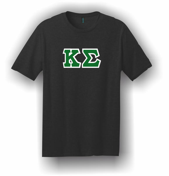 Kappa Sigma – T-Shirt, Embroidered (Single Stitched) – 5180 Hanes® Beefy-T® - 100% Cotton T-Shirt