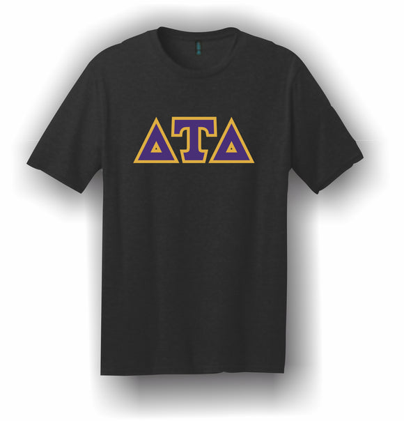Delta Tau Delta – T-Shirt, Embroidered (Single Stitched)  – 5180 Hanes® Beefy-T® - 100% Cotton T-Shirt