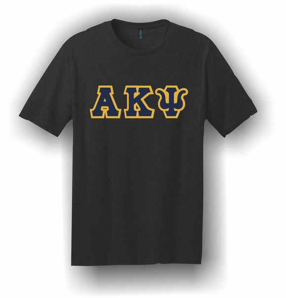 Alpha Kappa Psi – T-Shirt, Embroidered (Single Stitched)  – 5180 Hanes® Beefy-T® - 100% Cotton T-Shirt