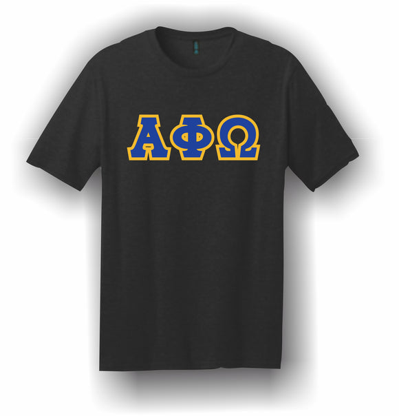 Alpha Phi Omega – T-Shirt, Embroidered (Single Stitched)  – 5180 Hanes® Beefy-T® - 100% Cotton T-Shirt