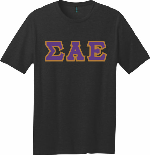 Sigma Alpha Epsilon – T-Shirt, Embroidered (Single Stitched) – 5180 Hanes® Beefy-T® - 100% Cotton T-Shirt