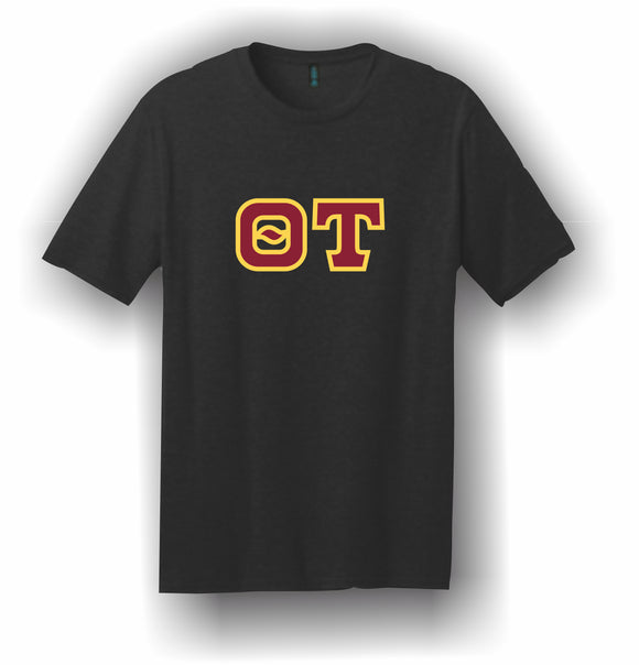 Theta Tau – T-Shirt, Embroidered (Single Stitched) – 5180 Hanes® Beefy-T® - 100% Cotton T-Shirt