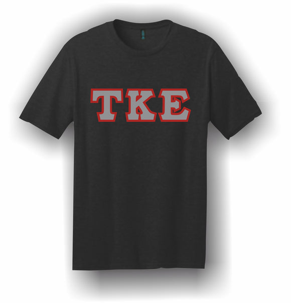 Tau Kappa Epsilon – T-Shirt, Embroidered (Single Stitched) – 5180 Hanes® Beefy-T® - 100% Cotton T-Shirt