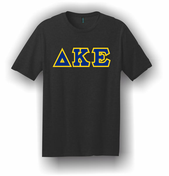 Delta Kappa Epsilon – T-Shirt, Embroidered (Single Stitched)  – 5180 Hanes® Beefy-T® - 100% Cotton T-Shirt