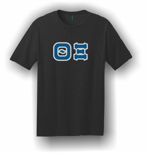 Theta Xi – T-Shirt, Embroidered (Single Stitched)  – 5180 Hanes® Beefy-T® - 100% Cotton T-Shirt
