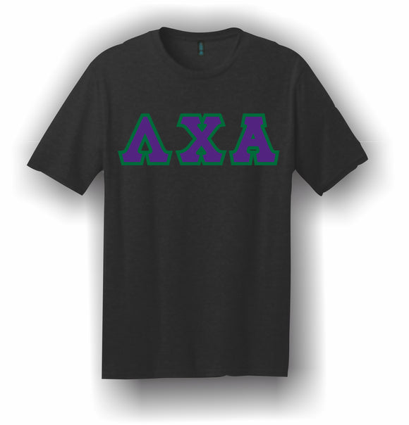 Lambda Chi Alpha – T-Shirt, Embroidered (Single Stitched)  – 5180 Hanes® Beefy-T® - 100% Cotton T-Shirt