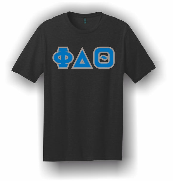 Phi Delta Theta – T-Shirt, Embroidered (Single Stitched)  – 5180 Hanes® Beefy-T® - 100% Cotton T-Shirt