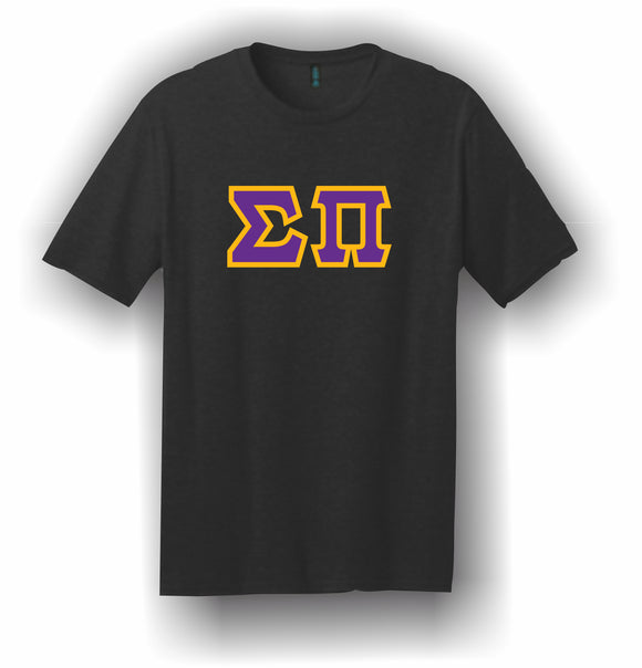 Sigma Pi – T-Shirt, Embroidered (Single Stitched)  – 5180 Hanes® Beefy-T® - 100% Cotton T-Shirt