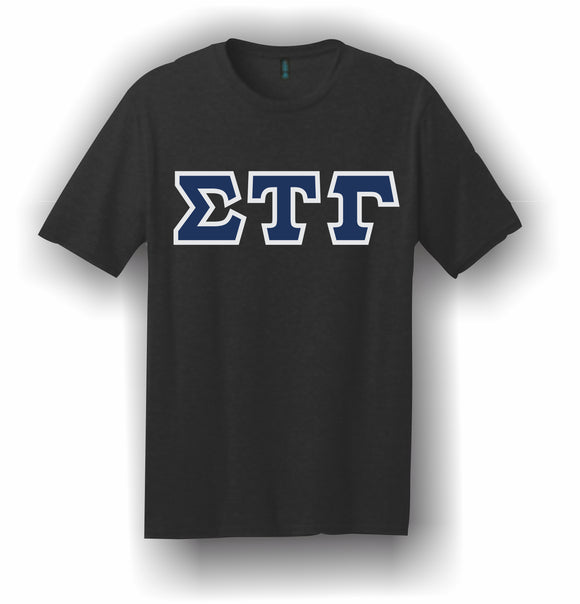 Sigma Tau Gamma – T-Shirt, Embroidered (Single Stitched)  – 5180 Hanes® Beefy-T® - 100% Cotton T-Shirt