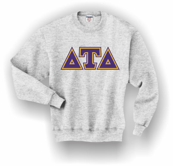 Delta Tau Delta – Crewneck Sweatshirt, Embroidered (Double Stitched) – 4662M JERZEES® SUPER SWEATS®