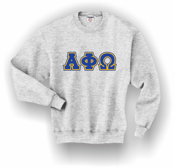 Alpha Phi Omega – Crewneck Sweatshirt, Embroidered (Double Stitched) – 4662M JERZEES® SUPER SWEATS®