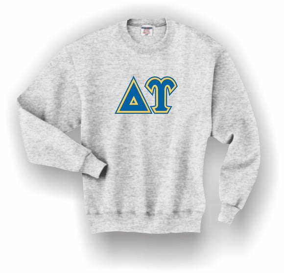 Delta Upsilon – Crewneck Sweatshirt, Embroidered (Double Stitched) – 4662M JERZEES® SUPER SWEATS®