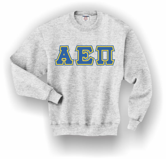 Alpha Epsilon Pi–Crewneck Sweatshirt, Embroidered (Double Stitched)–4662M JERZEES® SUPER SWEATS®