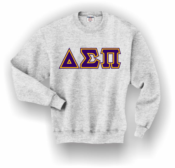 Delta Sigma Pi – Crewneck Sweatshirt, Embroidered (Double Stitched) – 4662M JERZEES® SUPER SWEATS®