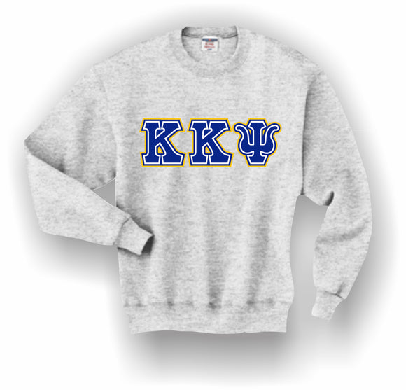Kappa Kappa Psi – Crewneck Sweatshirt, Embroidered (Double Stitched) – 4662M JERZEES® SUPER SWEATS®