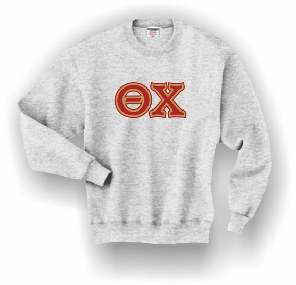 Theta Chi – Crewneck Sweatshirt, Embroidered (Double Stitched) – 4662M JERZEES® SUPER SWEATS®