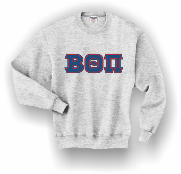 Beta Theta Pi – Crewneck Sweatshirt, Embroidered (Double Stitched) – 4662M JERZEES® SUPER SWEATS®