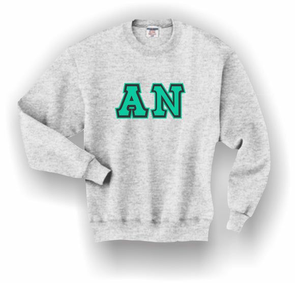 Alpha Nu–Crewneck Sweatshirt, Embroidered (Double Stitched)–4662M JERZEES® SUPER SWEATS®