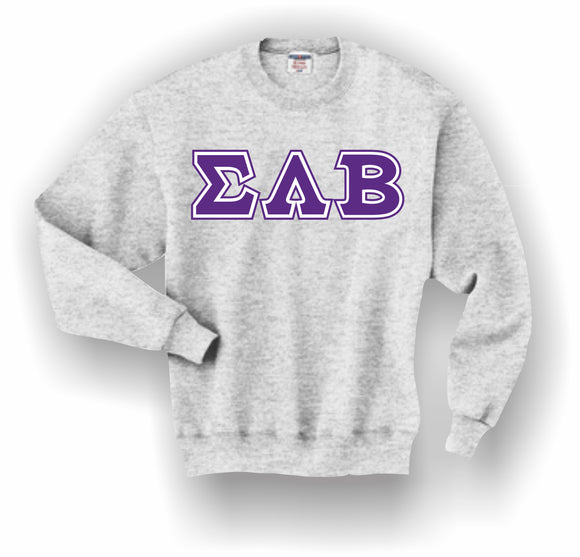 Sigma Lambda Beta – Crewneck Sweatshirt, Embroidered (Double Stitched) – 4662M JERZEES® SUPER SWEATS®