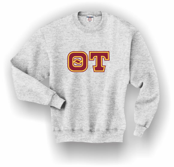 Theta Tau – Crewneck Sweatshirt, Embroidered (Double Stitched) – 4662M JERZEES® SUPER SWEATS®