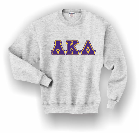 Alpha Kappa Lambda–Crewneck Sweatshirt, Embroidered (Double Stitched)–4662M JERZEES® SUPER SWEATS®