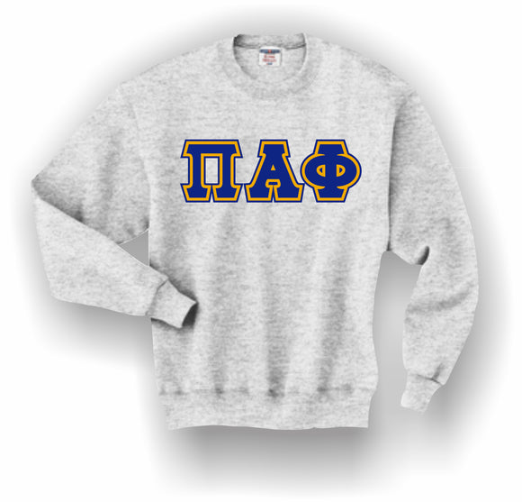 Pi Alpha Phi – Crewneck Sweatshirt, Embroidered (Double Stitched) – 4662M JERZEES® SUPER SWEATS®