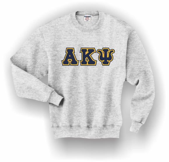 Alpha Kappa Psi – Crewneck Sweatshirt, Embroidered (Double Stitched) – 4662M JERZEES® SUPER SWEATS®