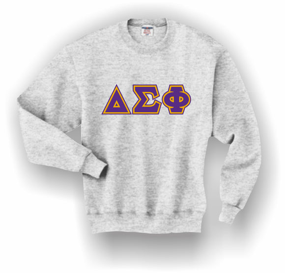 Delta Sigma Phi – Crewneck Sweatshirt, Embroidered (Double Stitched) – 4662M JERZEES® SUPER SWEATS®