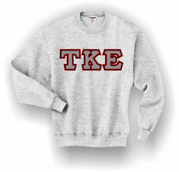 Tau Kappa Epsilon – Crewneck Sweatshirt, Embroidered (Double Stitched) – 4662M JERZEES® SUPER SWEATS®