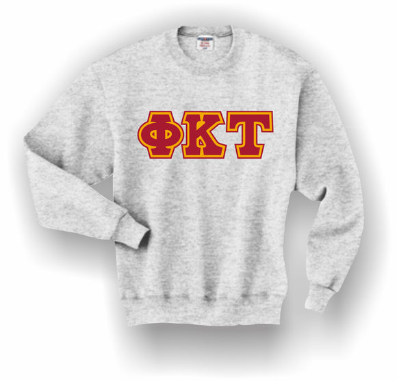 Phi Kappa Tau – Crewneck Sweatshirt, Embroidered (Double Stitched) – 4662M JERZEES® SUPER SWEATS®