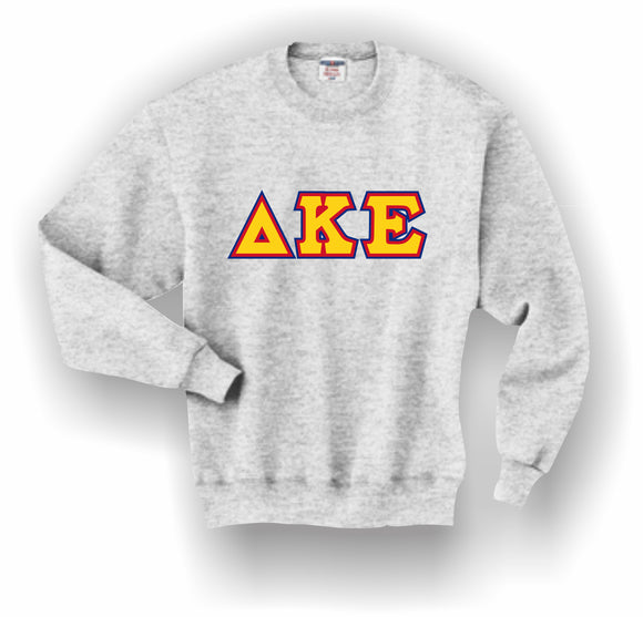 Delta Kappa Epsilon – Crewneck Sweatshirt, Embroidered (Double Stitched) – 4662M JERZEES® SUPER SWEATS®