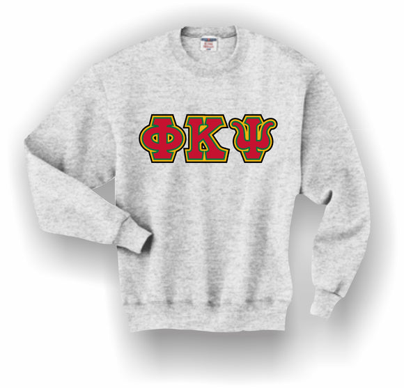 Phi Kappa Psi – Crewneck Sweatshirt, Embroidered (Double Stitched) – 4662M JERZEES® SUPER SWEATS®