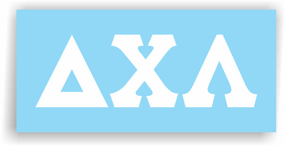 Delta Chi Lambda – Decal for Car, Laptop or Anywhere; Vinyl Decal in 2 Inch or 3 Inch sizes