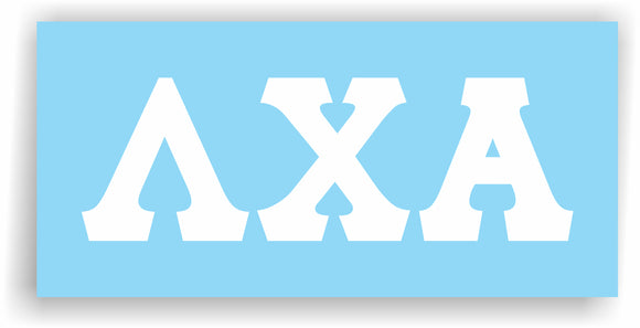 Lambda Chi Alpha – Decal for Car, Laptop or Anywhere; Vinyl Decal in 2 Inch or 3 Inch sizes