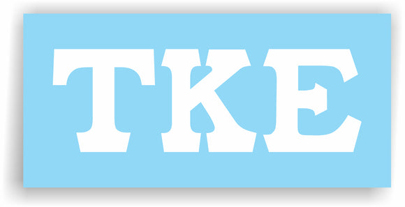 Tau Kappa Epsilon – Decal for Car, Laptop or Anywhere; Vinyl Decal in 2 Inch or 3 Inch sizes