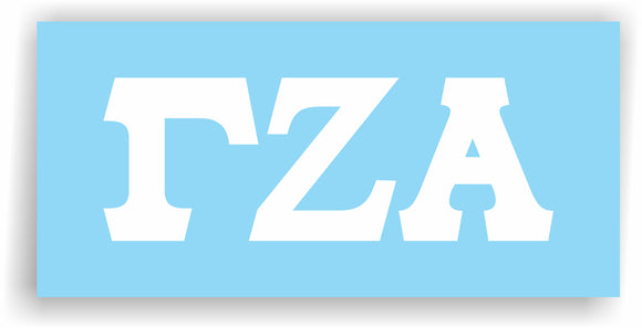 Gamma Zeta Alpha – Decal for Car, Laptop or Anywhere; Vinyl Decal in 2 Inch or 3 Inch sizes