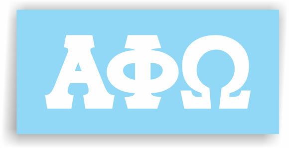 Alpha Phi Omega – Decal for Car, Laptop or Anywhere; Vinyl Decal in 2 Inch or 3 Inch sizes