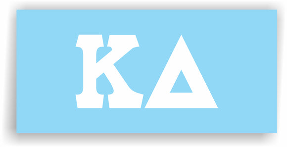 Kappa Delta – White Vinyl Decals for Car, Computer or anywhere