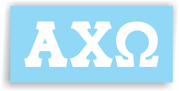 Alpha Chi Omega – White Vinyl Decals for Car, Computer or anywhere