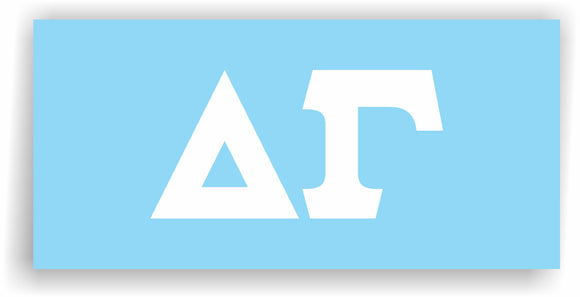 Delta Gamma – White Vinyl Decals for Car, Computer or anywhere