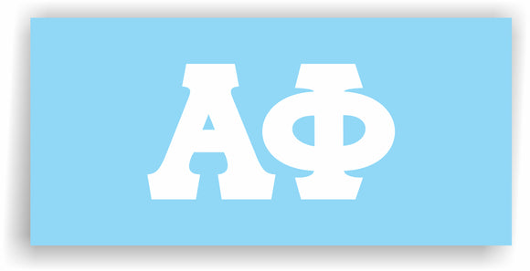 Alpha Phi – White Vinyl Decals for Car, Computer or anywhere