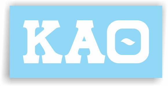 Kappa Alpha Theta – White Vinyl Decals for Car, Computer or anywhere
