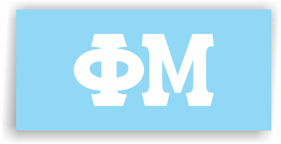 Phi Mu – White Vinyl Decals for Car, Computer or anywhere