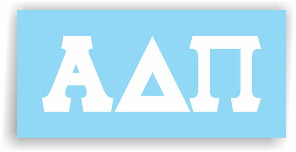 Alpha Delta Pi – White Vinyl Decals for Car, Computer or anywhere