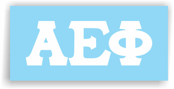 Alpha Epsilon Phi – White Vinyl Decals for Car, Computer or anywhere